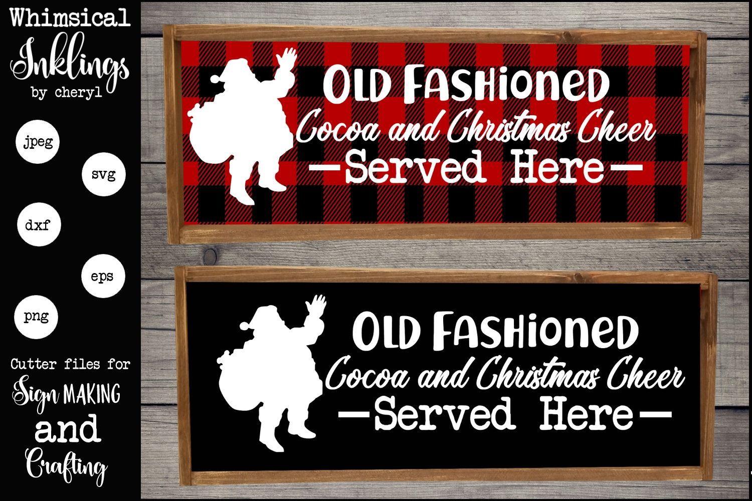 Old Fashioned Christmas Cocoa SVG example image 1