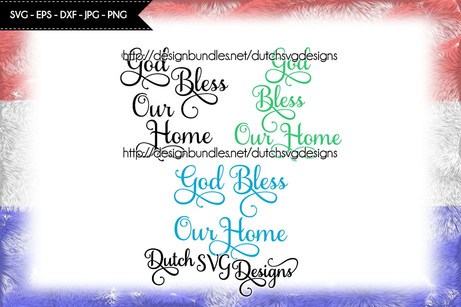Text cutting file God Bless our Home, svg cut file example image 1