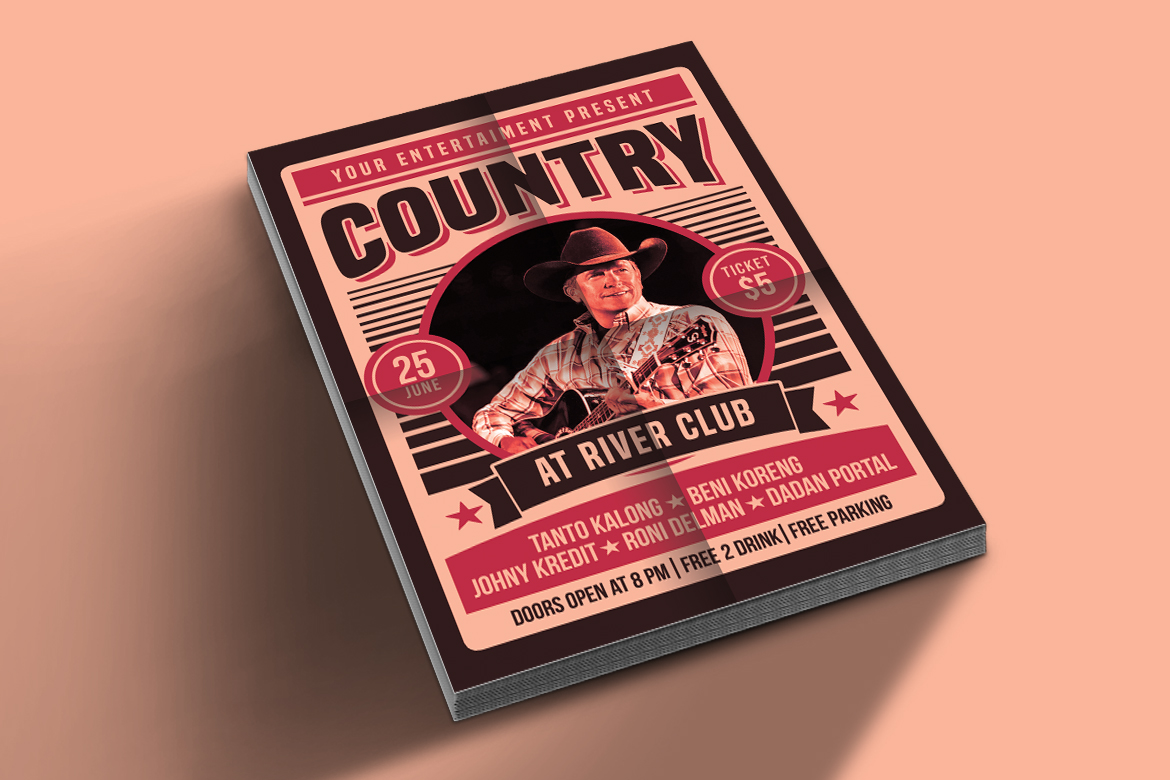 Country Music Poster Flyer example image 4
