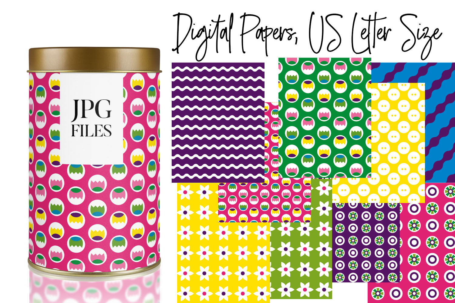 Digital Papers Bundle Vol. 2 - Background Patterns example image 11