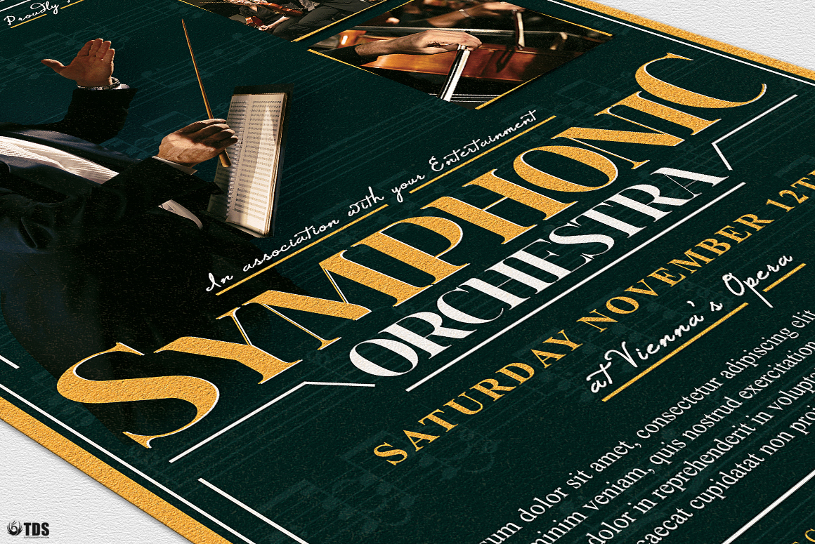 Symphonic Orchestra Flyer Template V2 example image 2