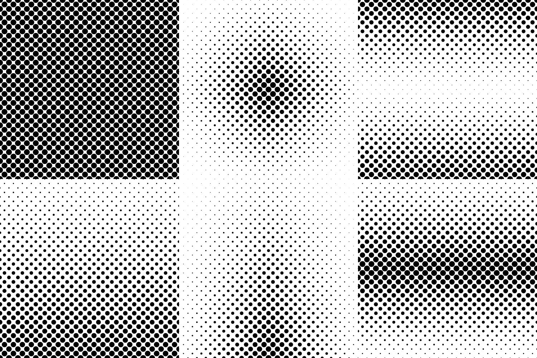 24 Dot Patterns AI, EPS, JPG 5000x5000 example image 2