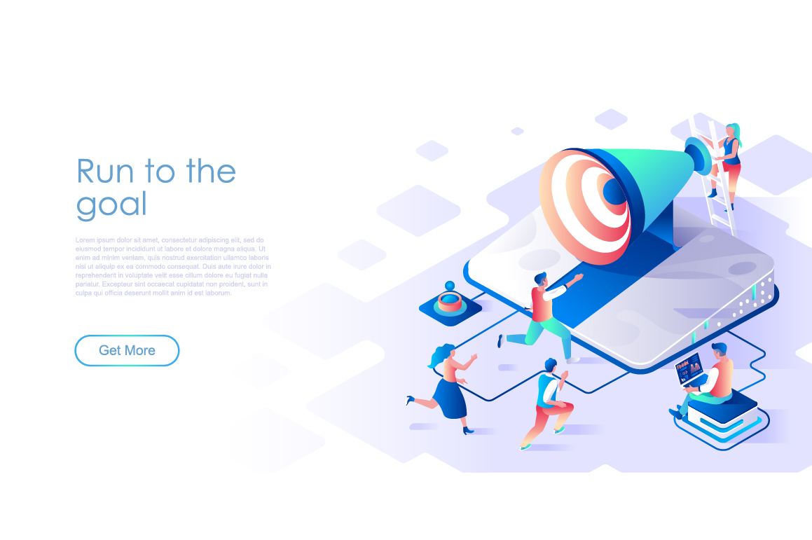 Bundle Isometric Landing Page Template Header example image 5