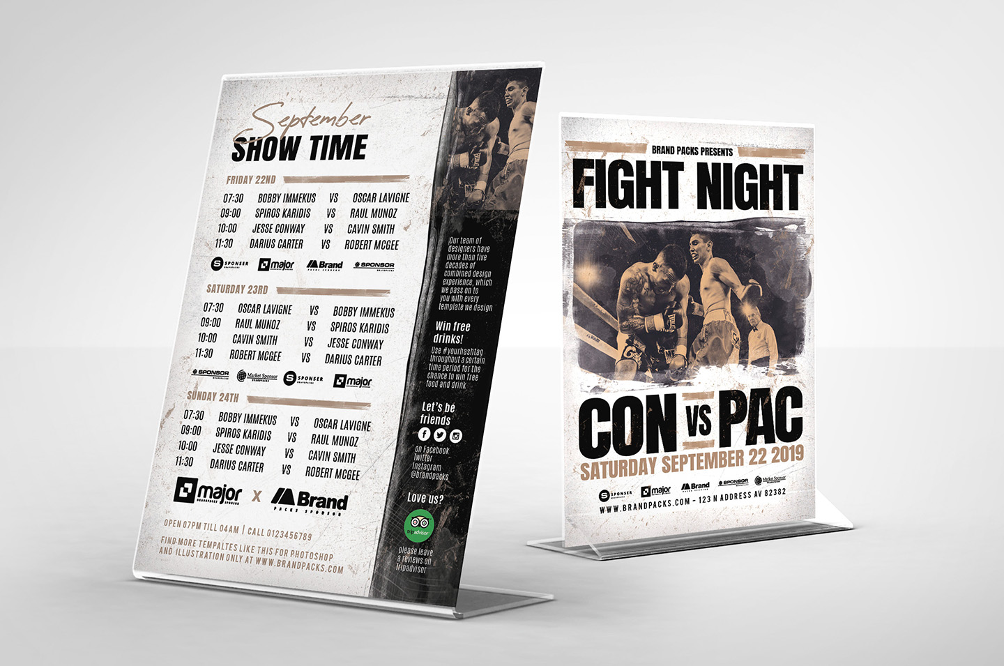 Fight Night Flyer Template example image 3