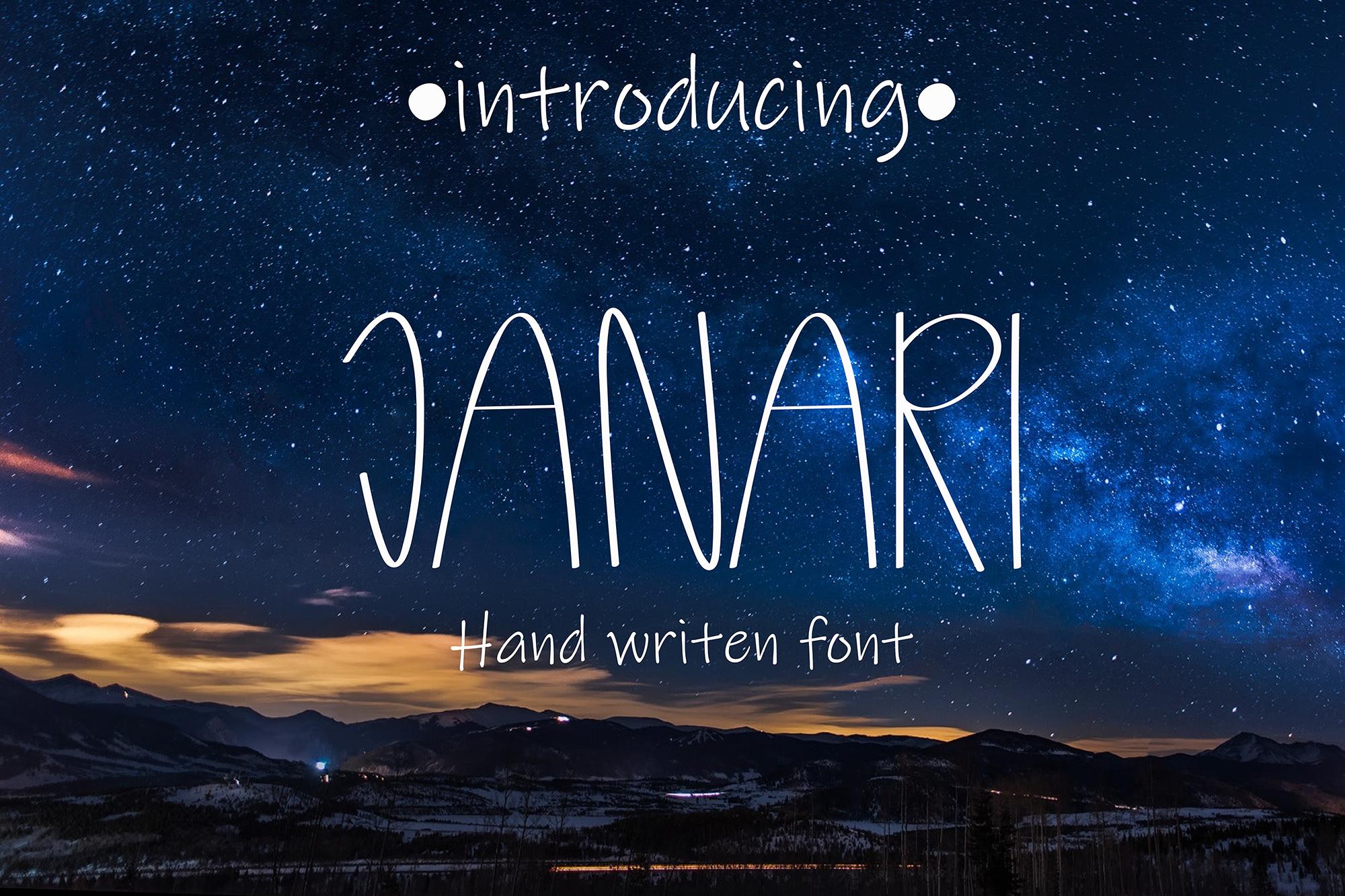 Janari font example image 1