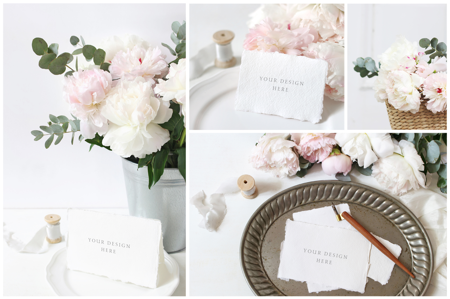 Vintage peony wedding mockups & stock photo bundle example image 3