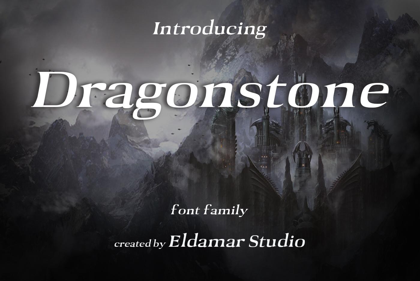 Dragonstone Font example image 1