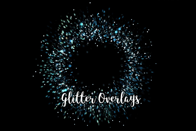 Glitter Dust Overlays, Glitter Bokeh Texture Overlays example image 12