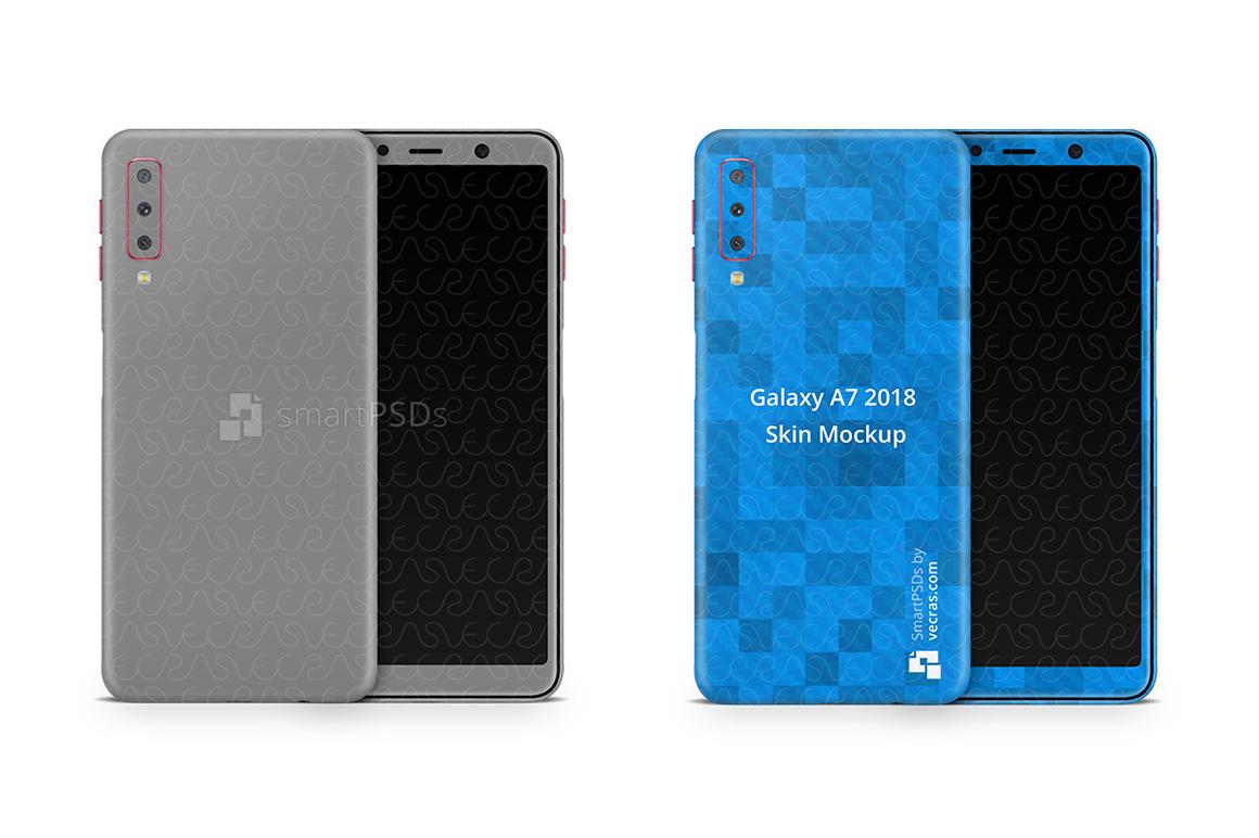 Samsung Galaxy A7 Vinyl Skin Design Mockup 2018 example image 1