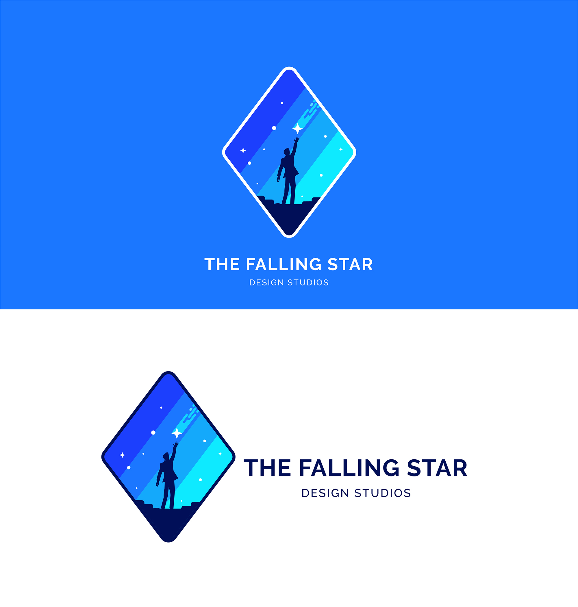 Men Catch a Falling Star Logo example image 2