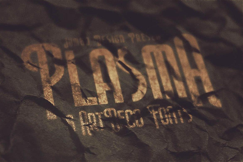 Plasma - ArtDeco Style Font example image 2
