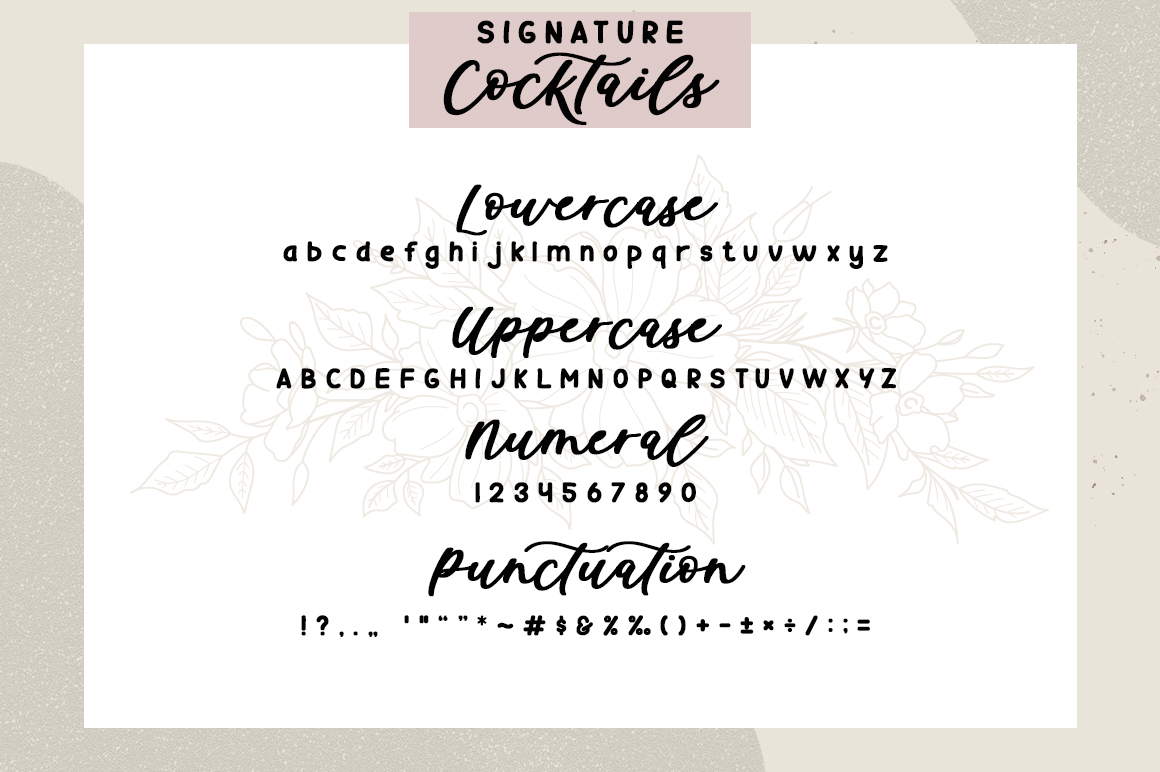 Signature Cocktails Font Duo example image 10