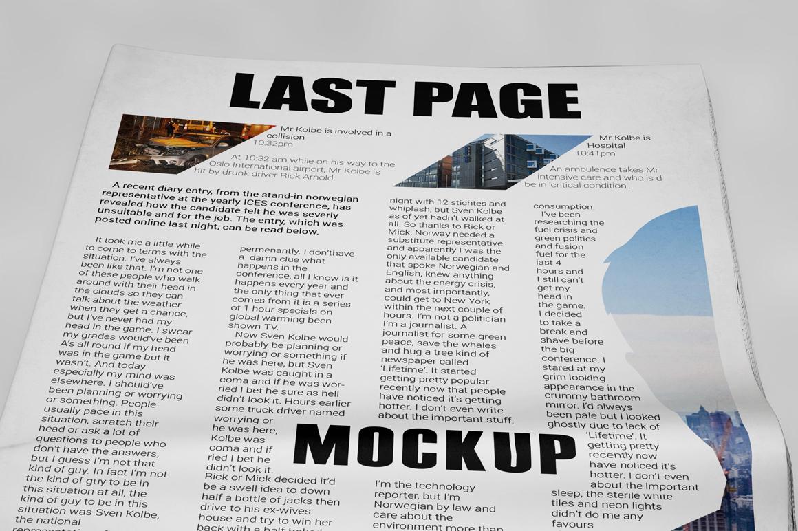 Newspaper Mockup example image 7