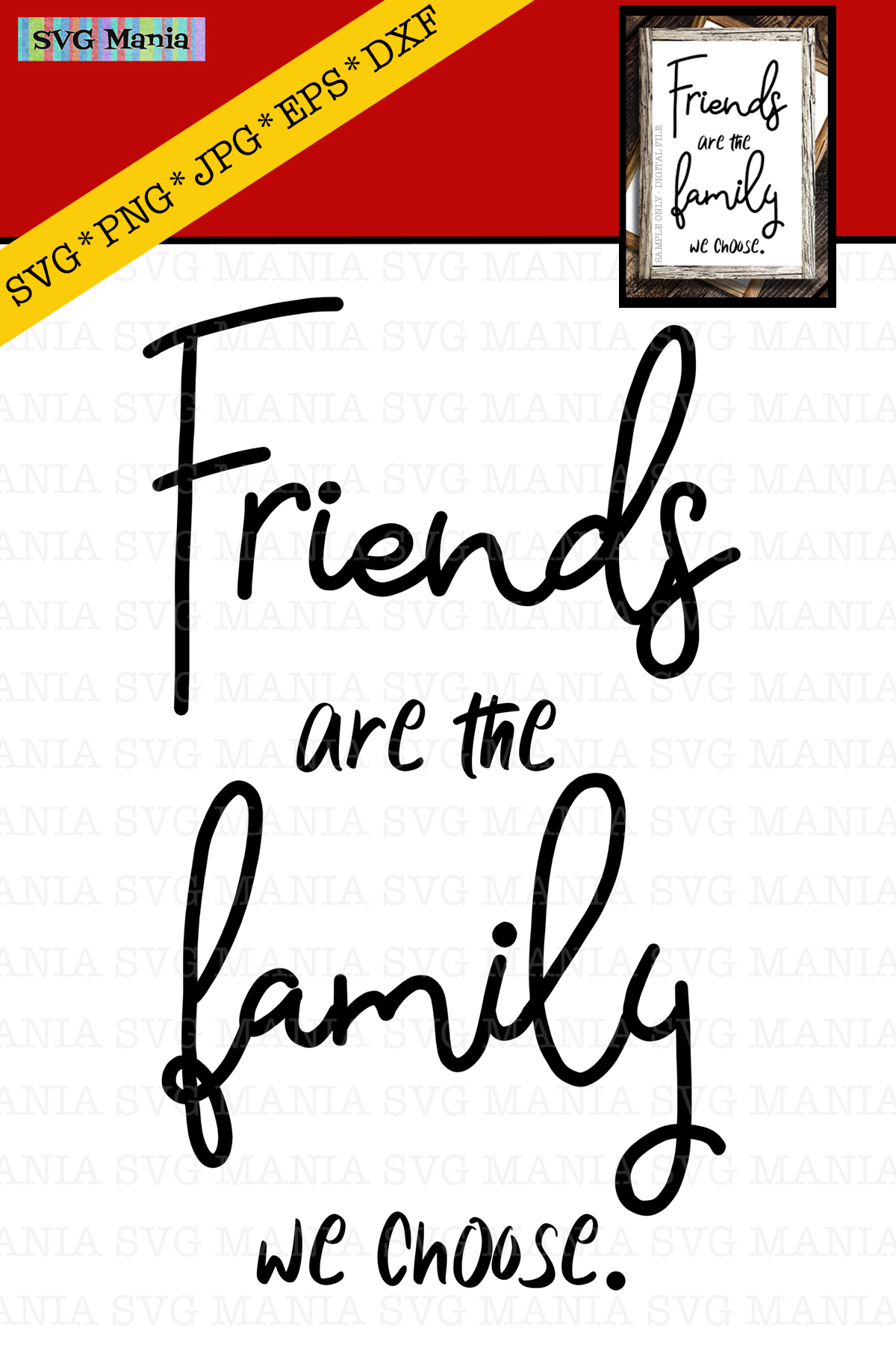 Friends are the Family We Choose SVG, Friend Saying SVG, SVG example image 2