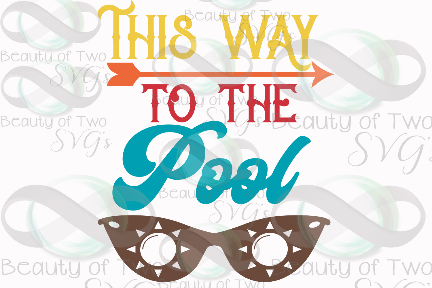 Sunglasses svg, This way to the pool svg and png, pool svg example image 3