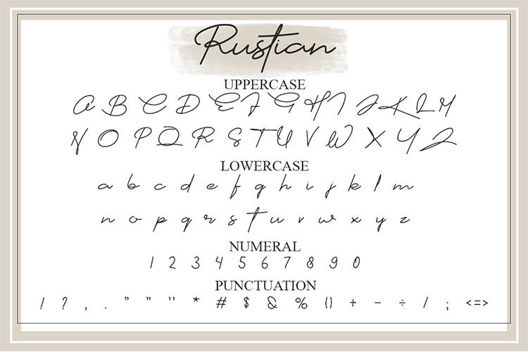 Restian Script Font example image 11