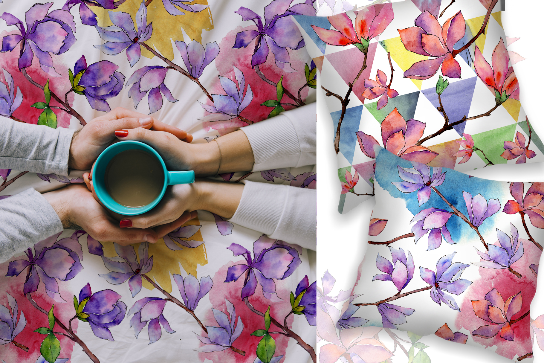 Amazing magnolia JPG watercolor flower set example image 6