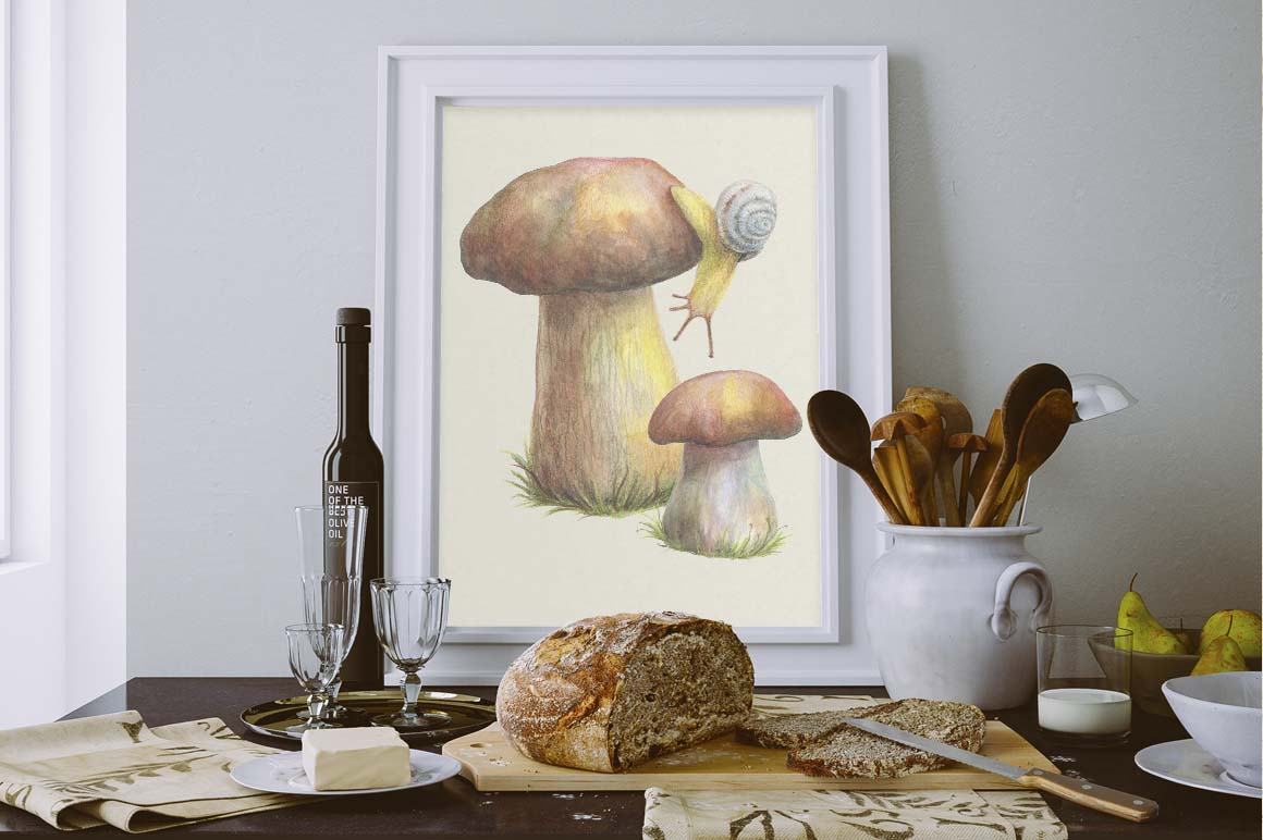 Mushrooms and Lingonberry Set example image 6