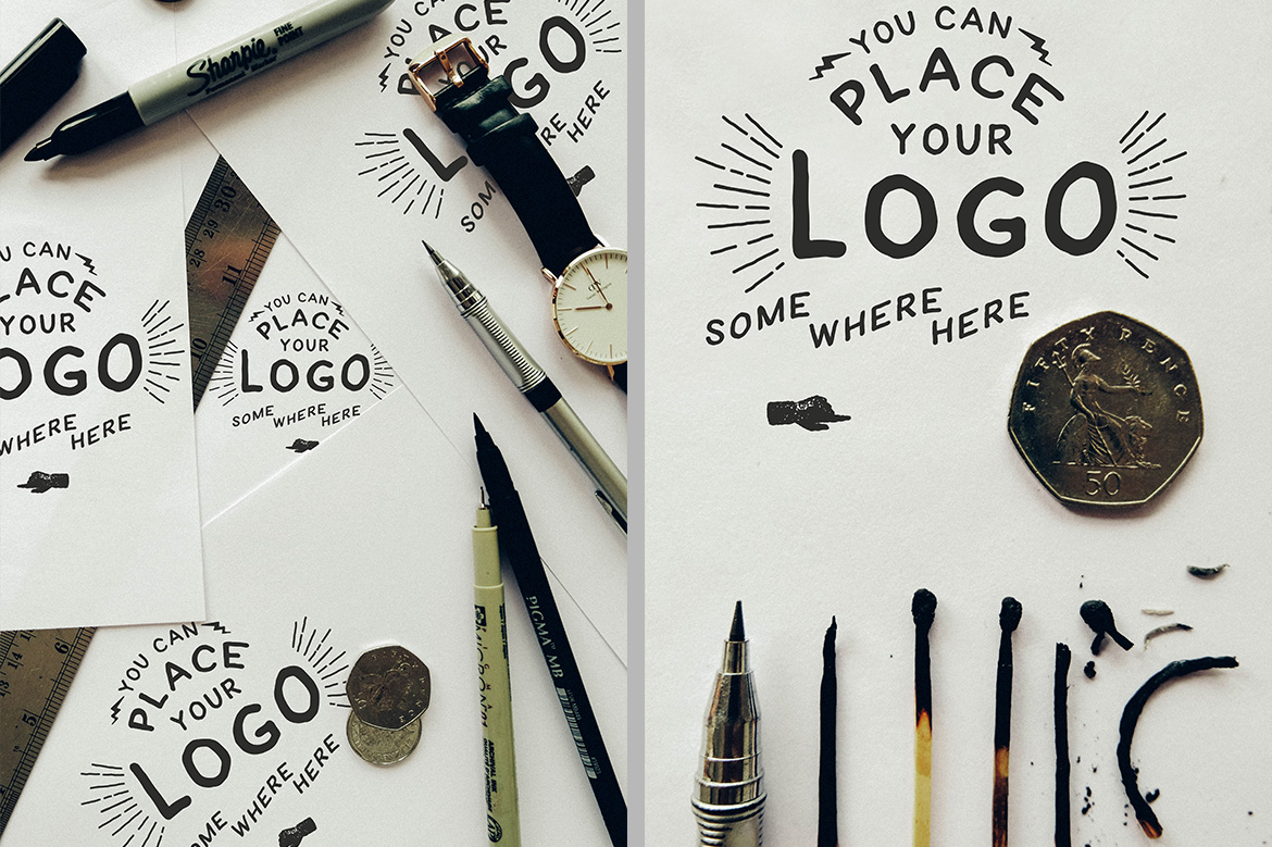 Hand Lettering Logo Mock Up example image 2