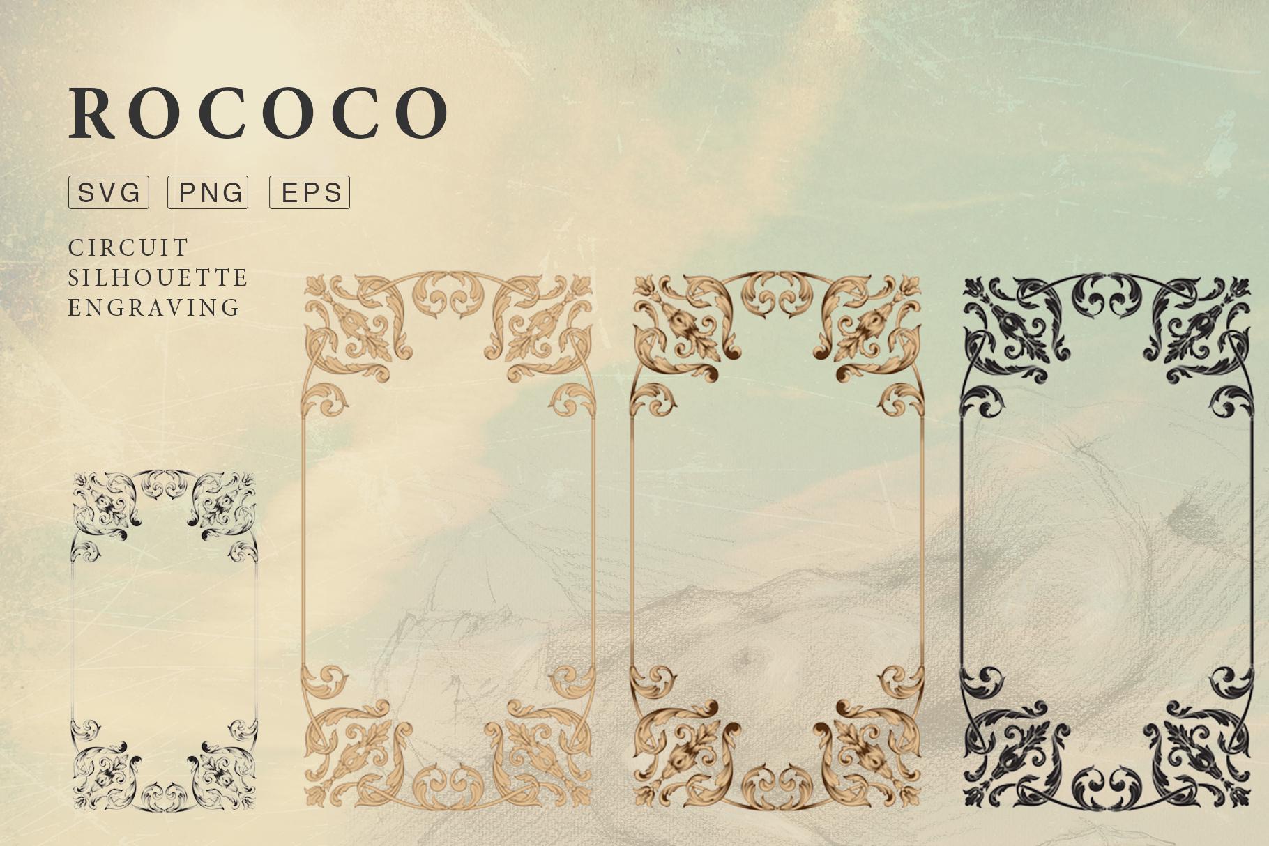 Rococo Romance Ornament page decor example image 10