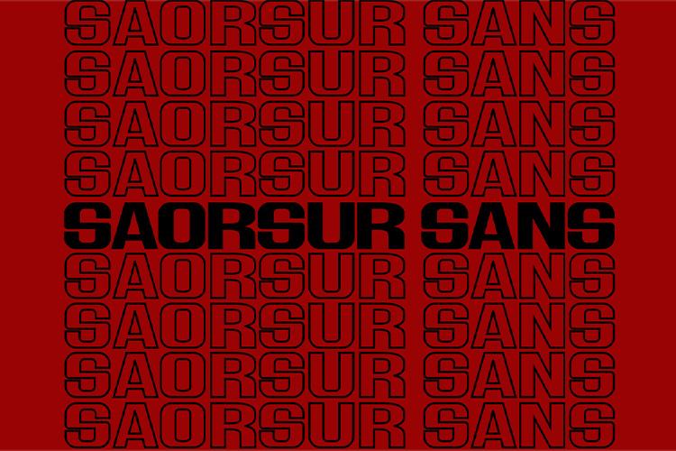 SAORSUR || BRUTALIST FONT example image 6