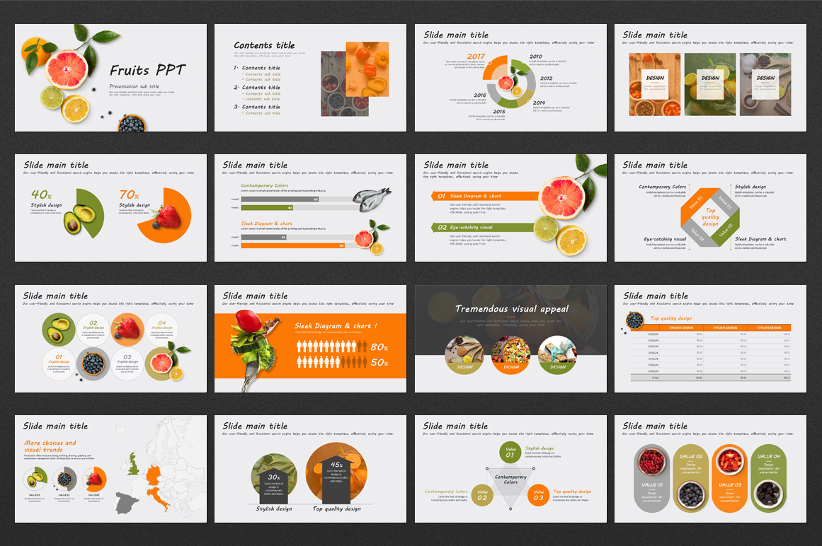 Fruits PPT  example image 2