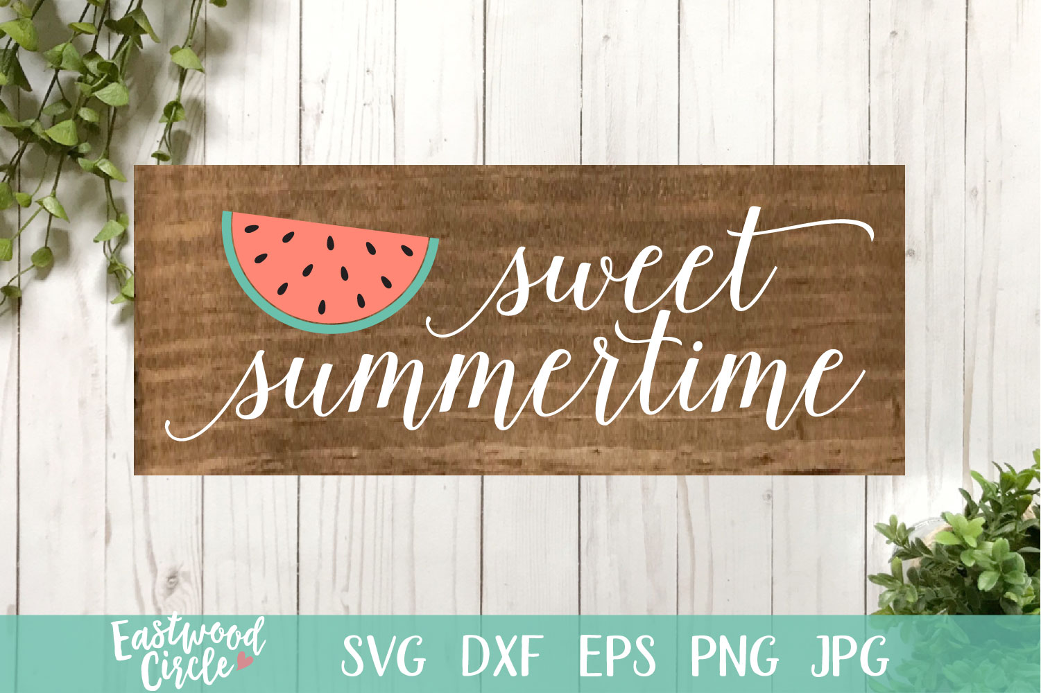 Sweet Summertime - A Summer SVG File for Signs example image 1