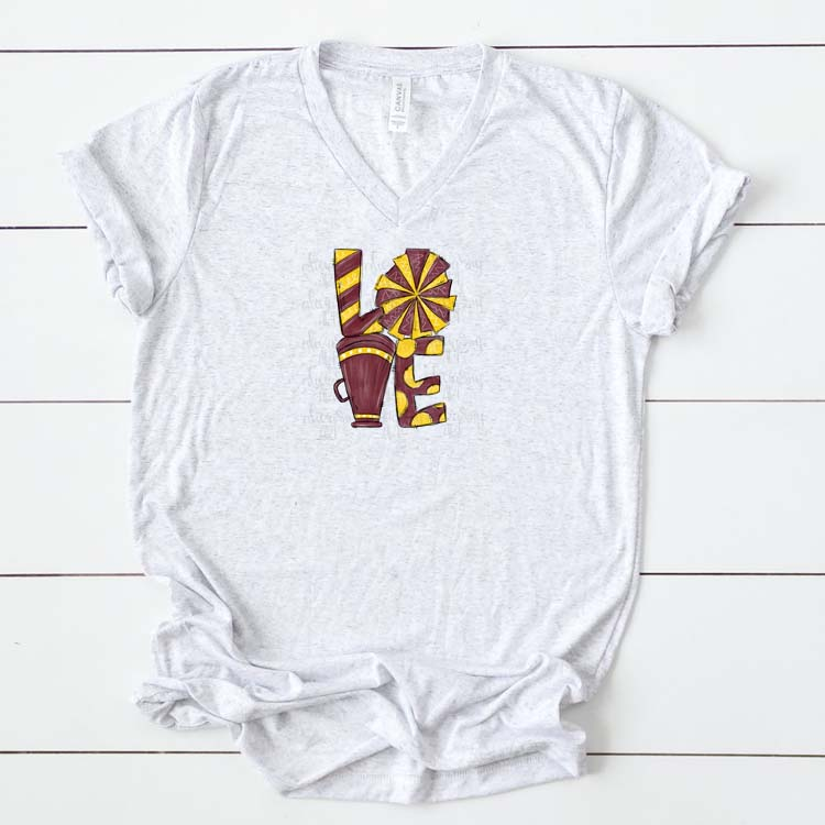 Cheer Love Maroon and Yellow/Gold example image 2