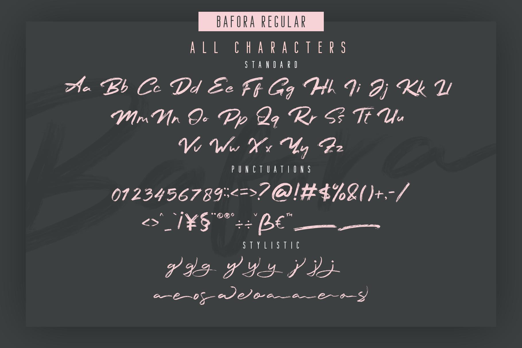 Bafora - SVG Font Bonus Bondie Font example image 4