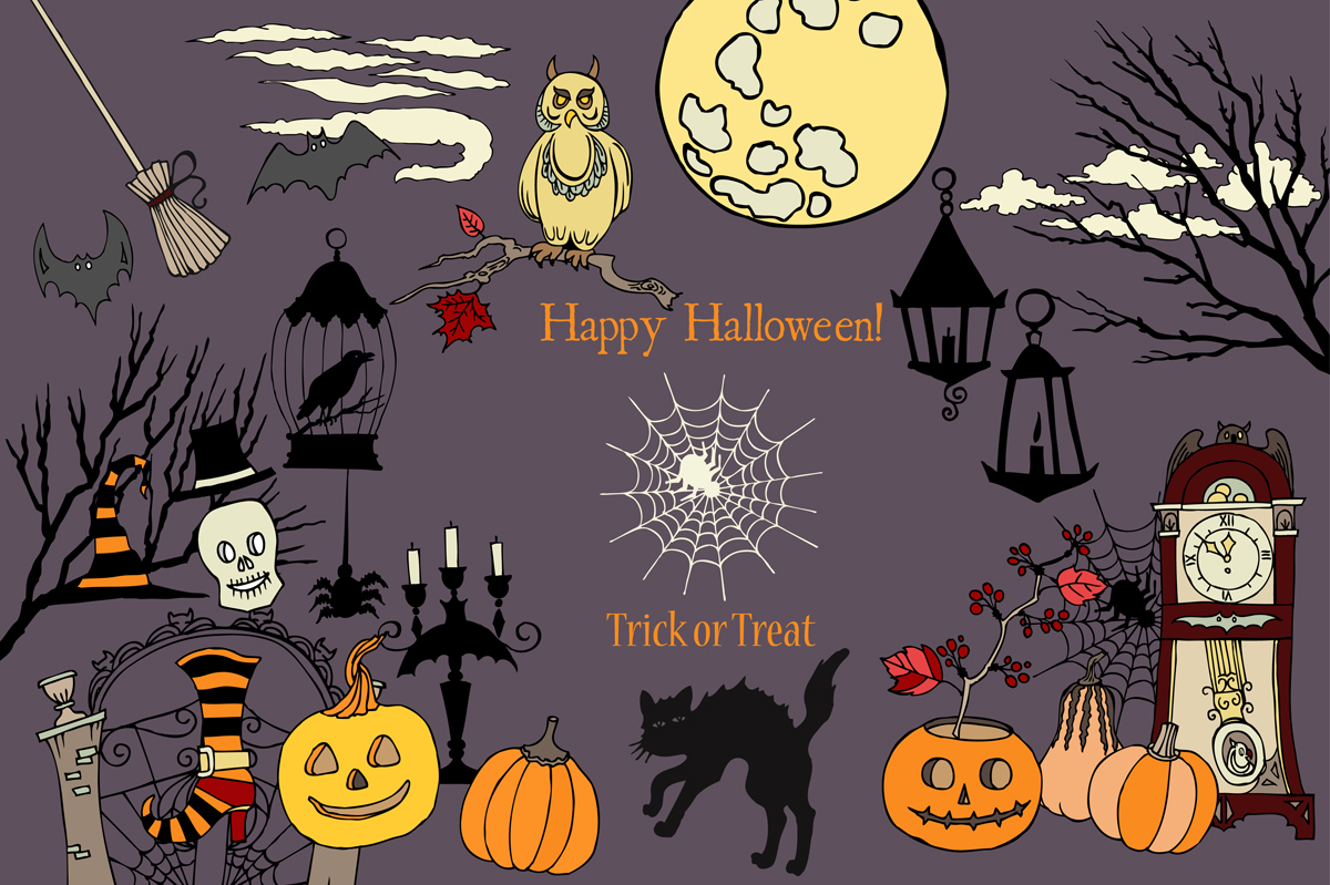 Halloween Colors Clip art example image 2