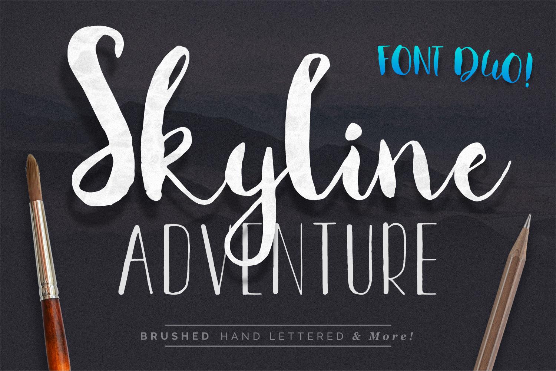 Font Duo Skyline Adventure example image 1