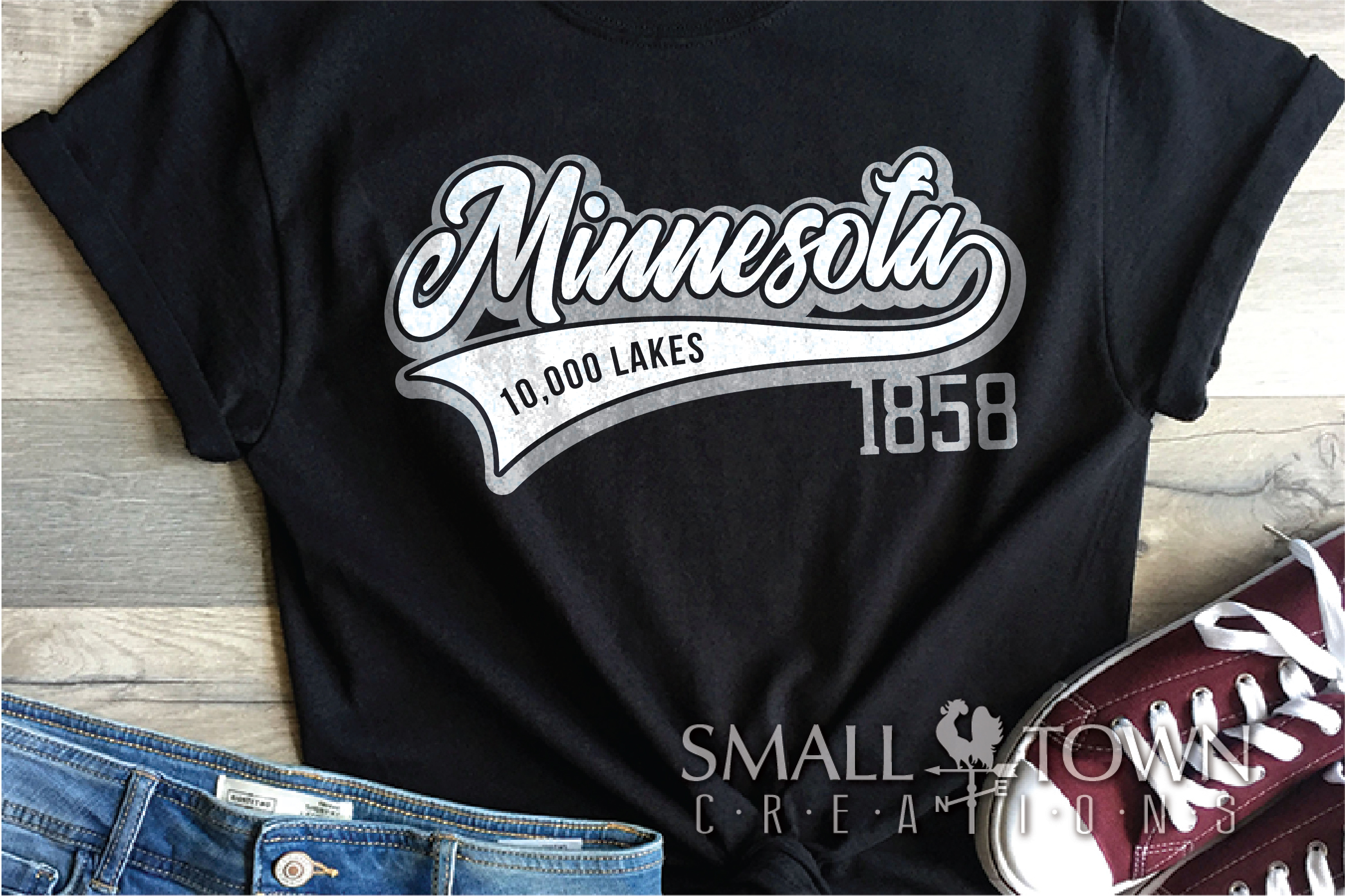 Minnesota, 10,000 Lakes - slogan, PRINT, CUT & DESIGN example image 2