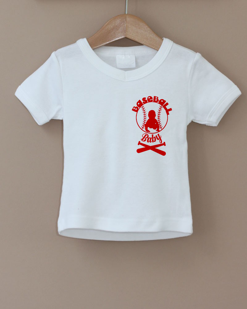 little baseball baby, png,dxf, eps, Maternity funny shirt, example image 2