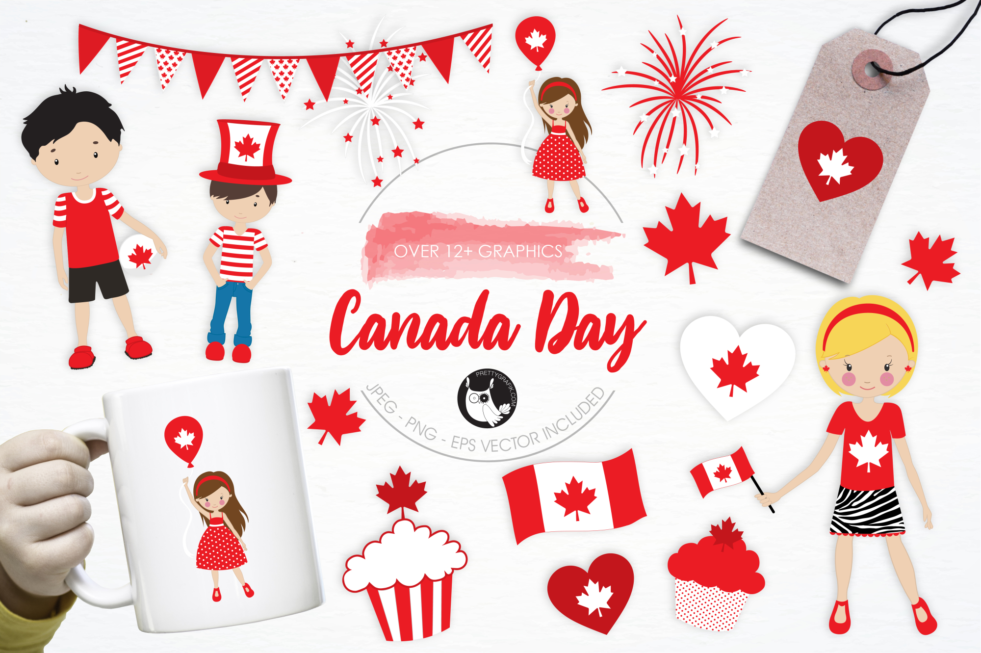 Canada Day graphics and illustrations example image 1