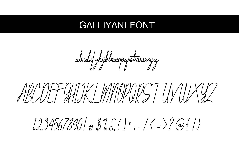 Galliyani Handwritten Font Style example image 8