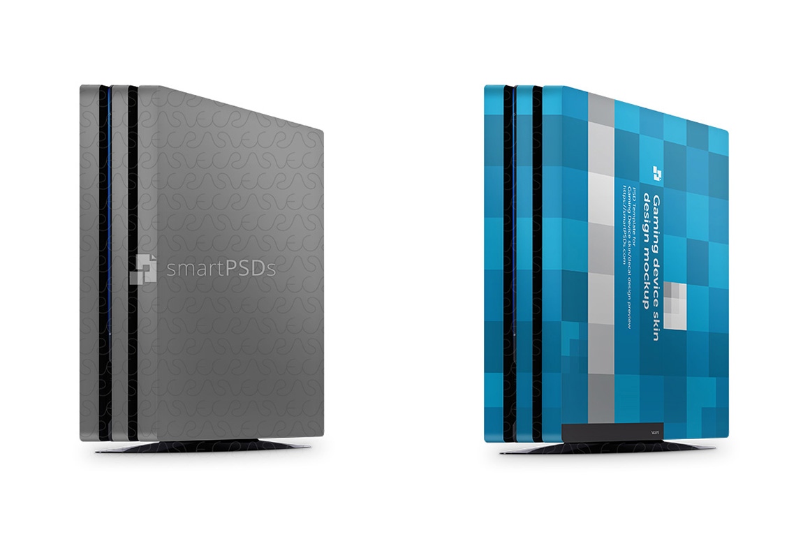 PS4 Pro Console Skin Design Template- 3 Views example image 1