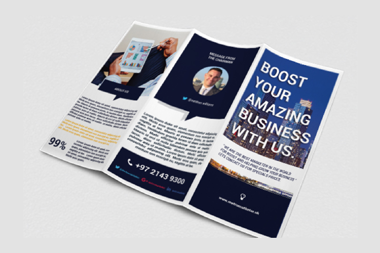 Modern Business Trifold Brochure Photoshop Template example image 3
