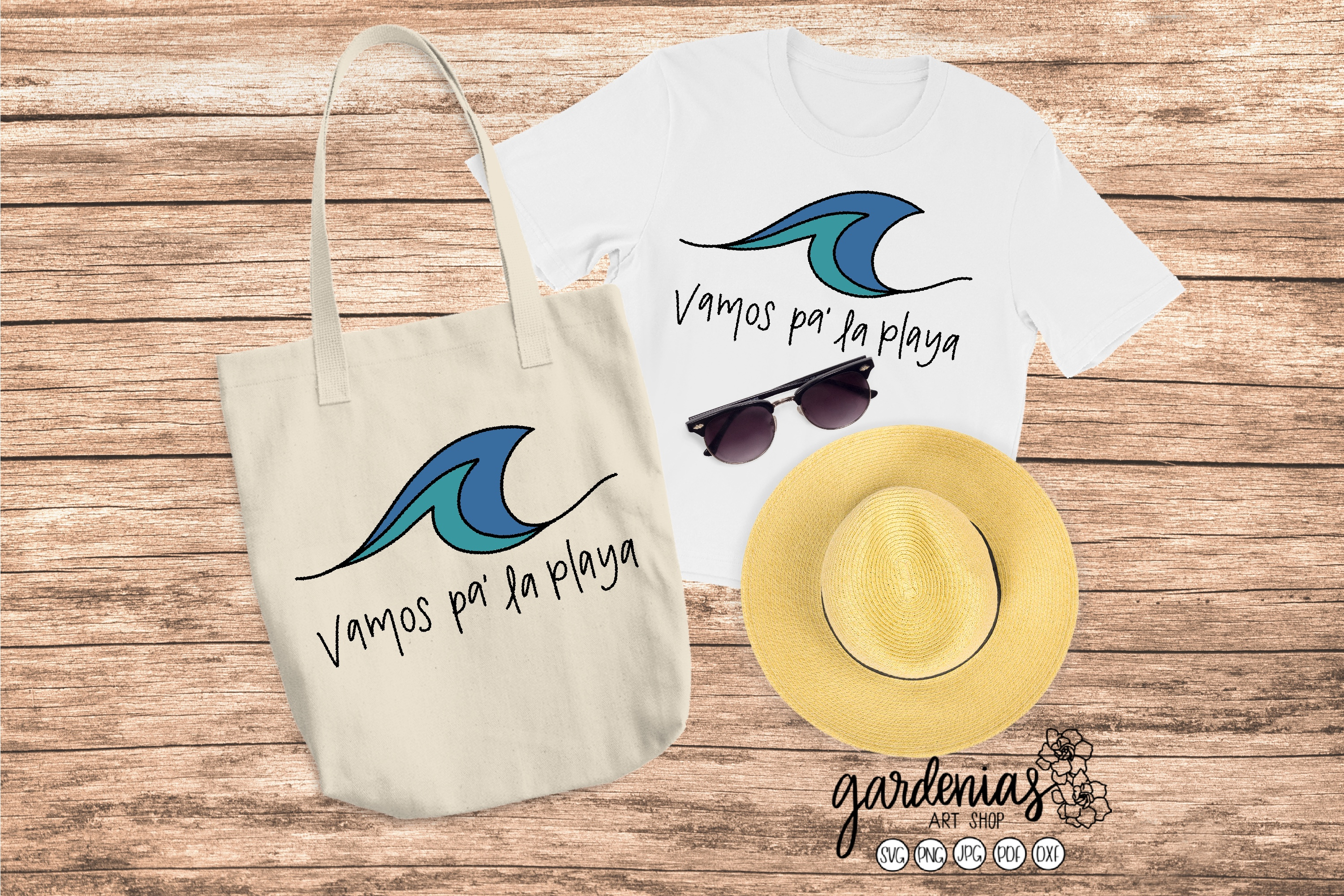 Vamos Pa La Playa SVG | Spanish SVG | Spanish Cut Files example image 1