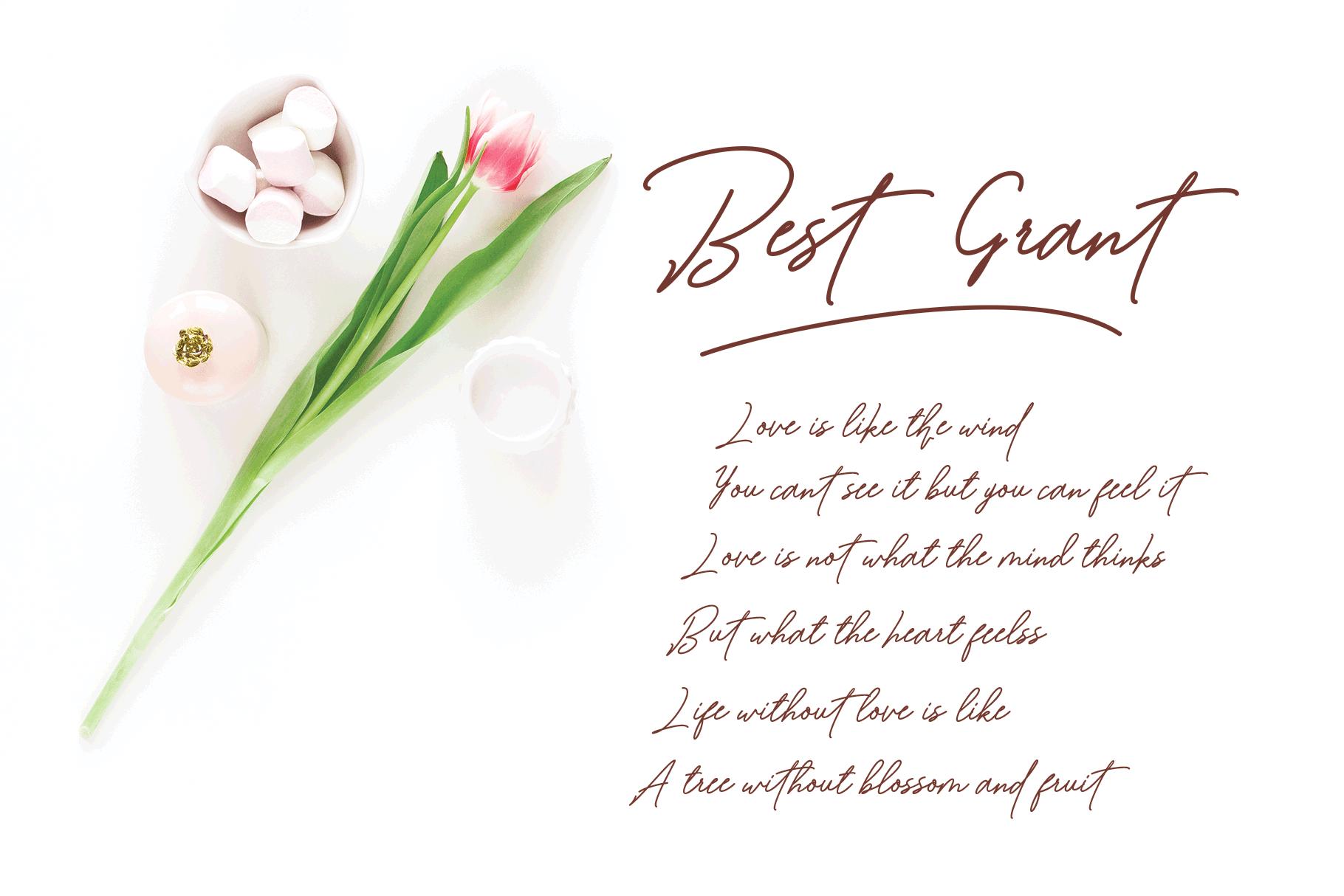 Bartdeng Handwritten Font | NEW example image 9