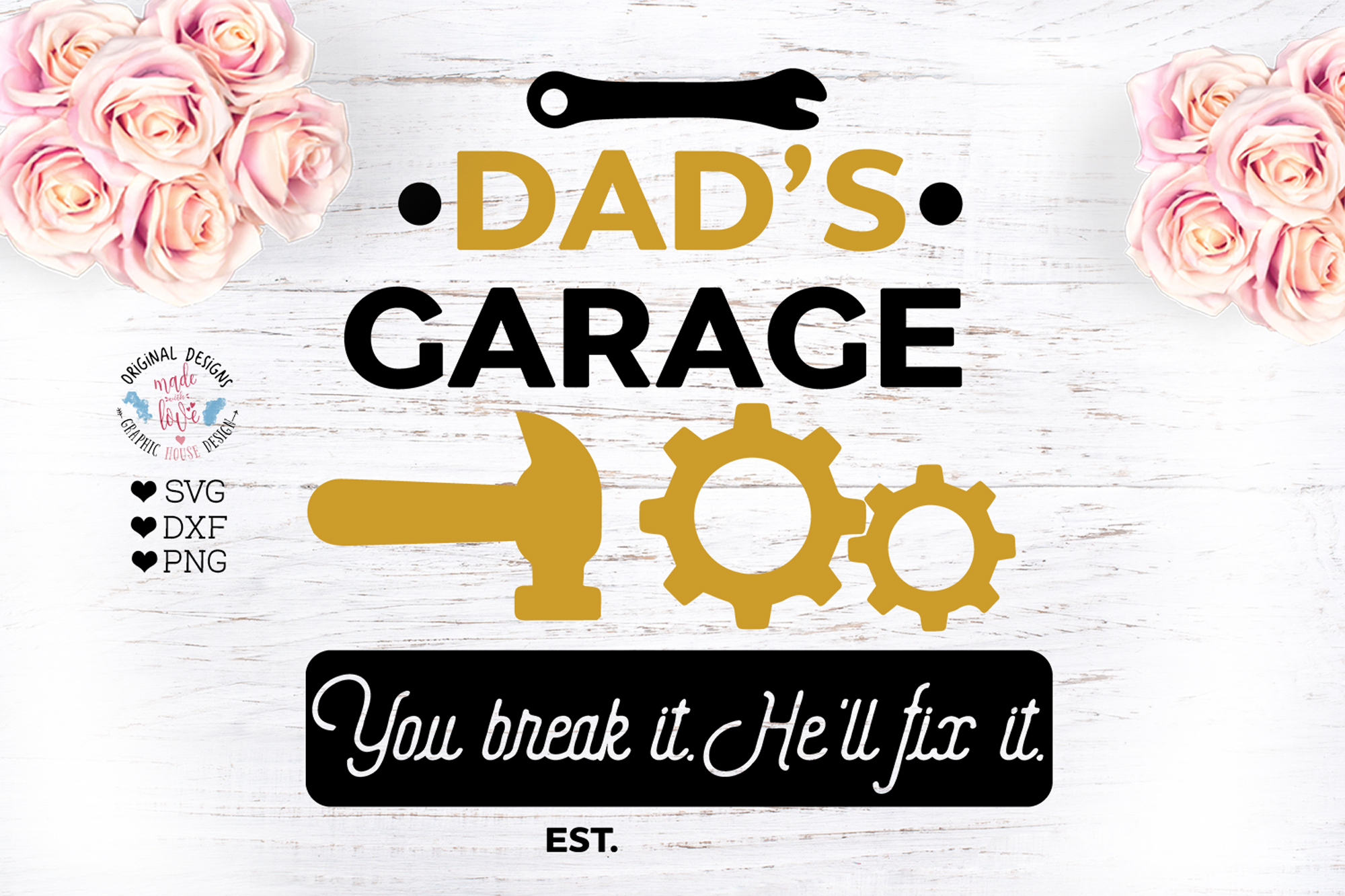 Dads Garage est. Cut File example image 1