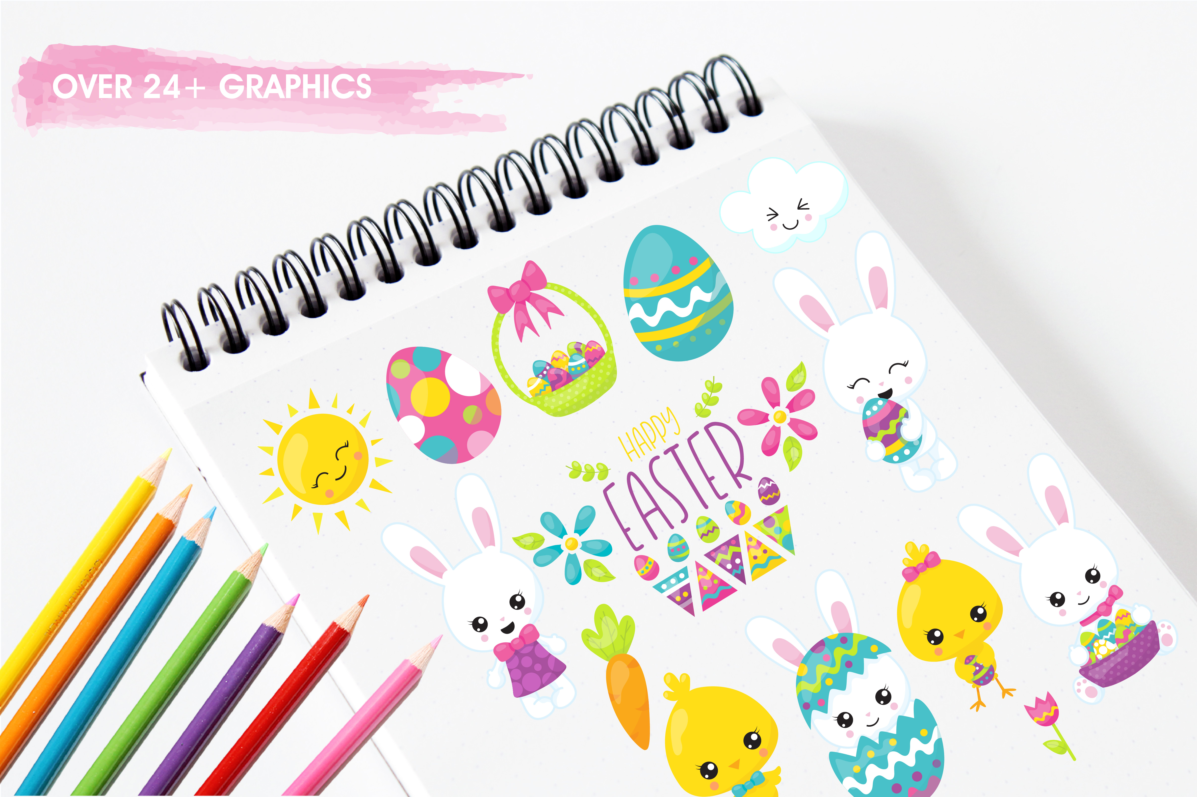 Happy Easter graphics and illustrations example image 3