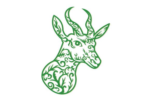 Springbok Head Paper Cut example image 1