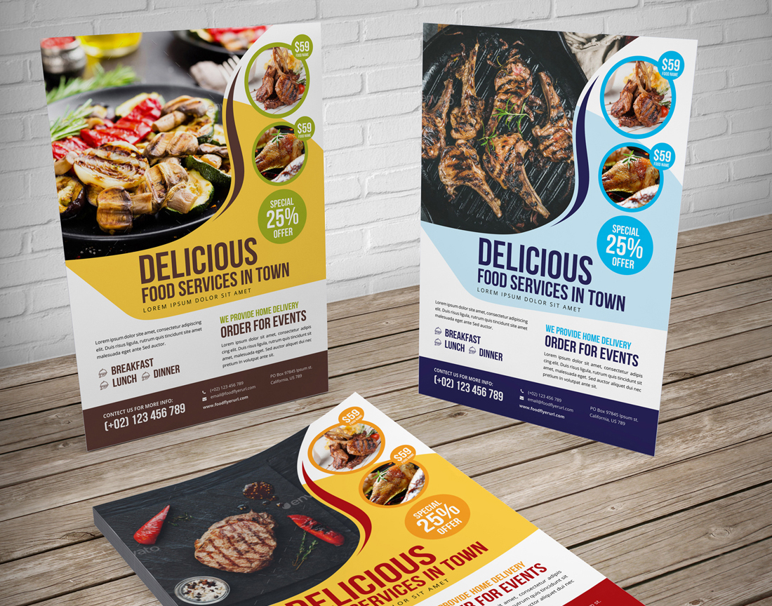 Food Menu Restaurant Brochure Bundle example image 12