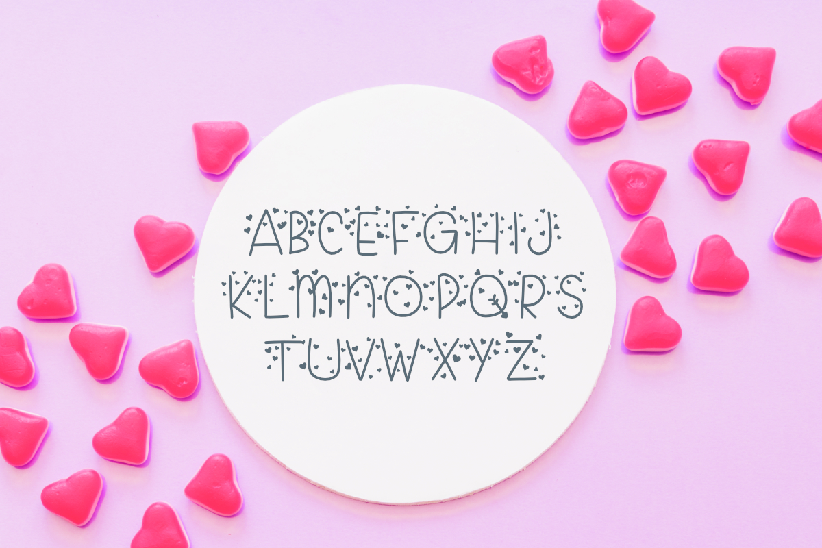 Candy Hearts Valentine Font example image 4