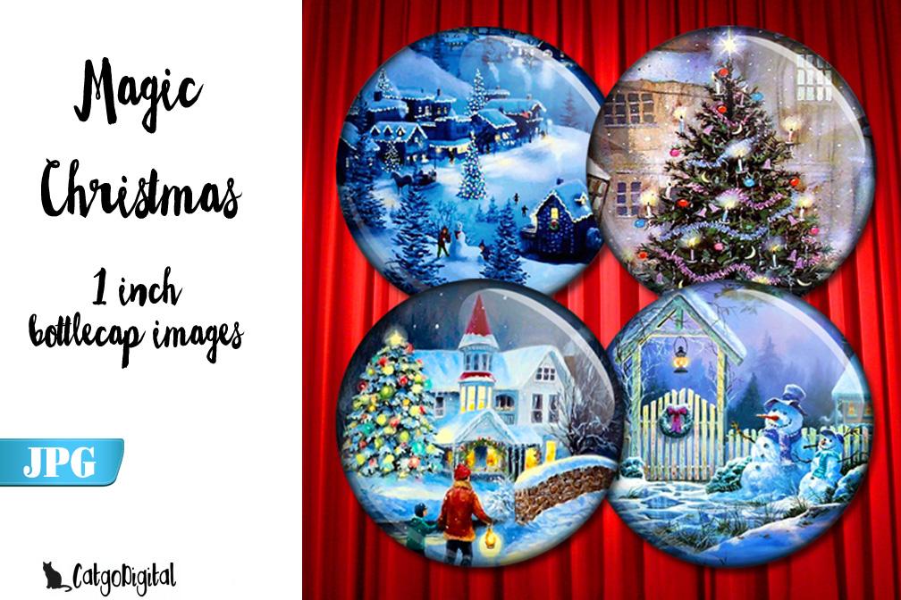 Magic Christmas circle images 1 inch bottlecap example image 1