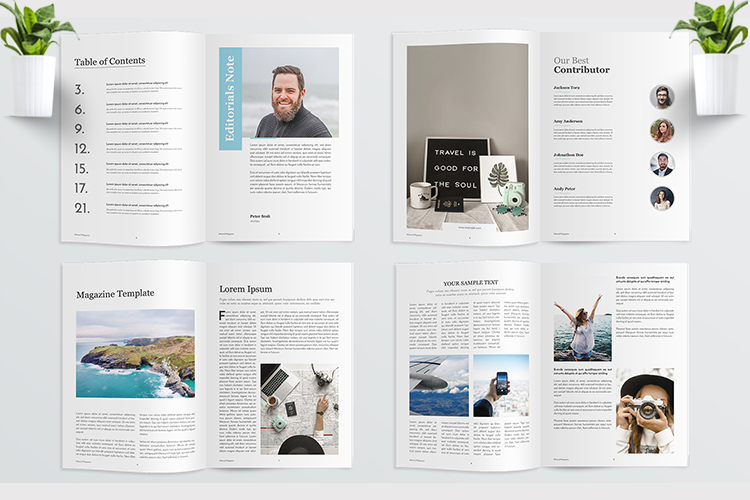 Adventure Magazine Template example image 2