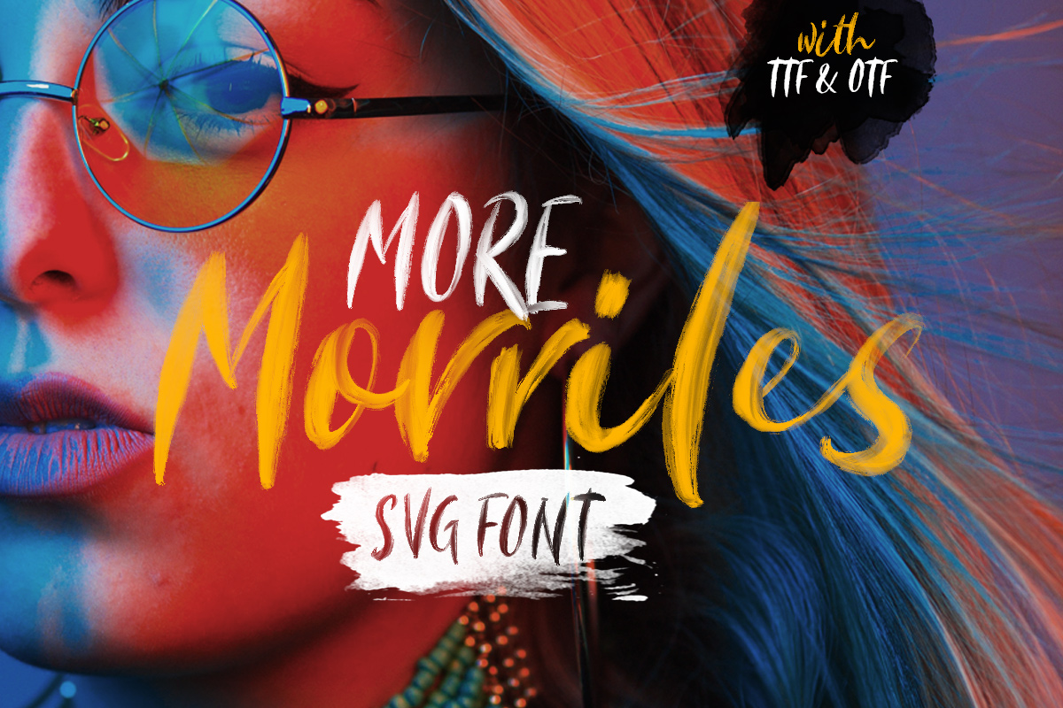 Morriles - SVG Font example image 1