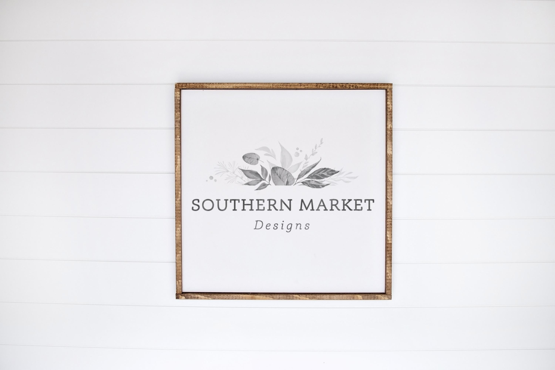 24x24 Wood Sign Mock Up Styled Stock Photo example image 1