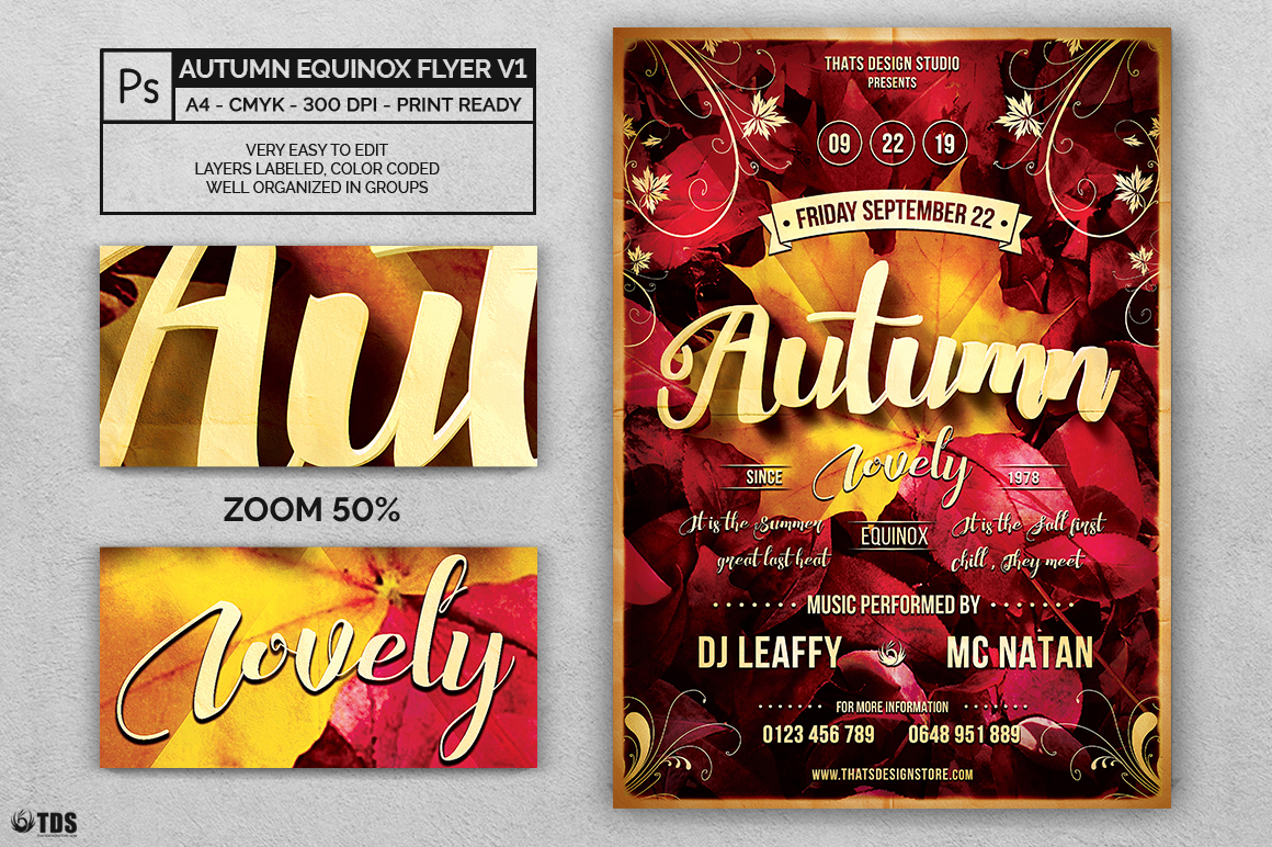 Autumn Equinox Flyer Template V1 example image 2