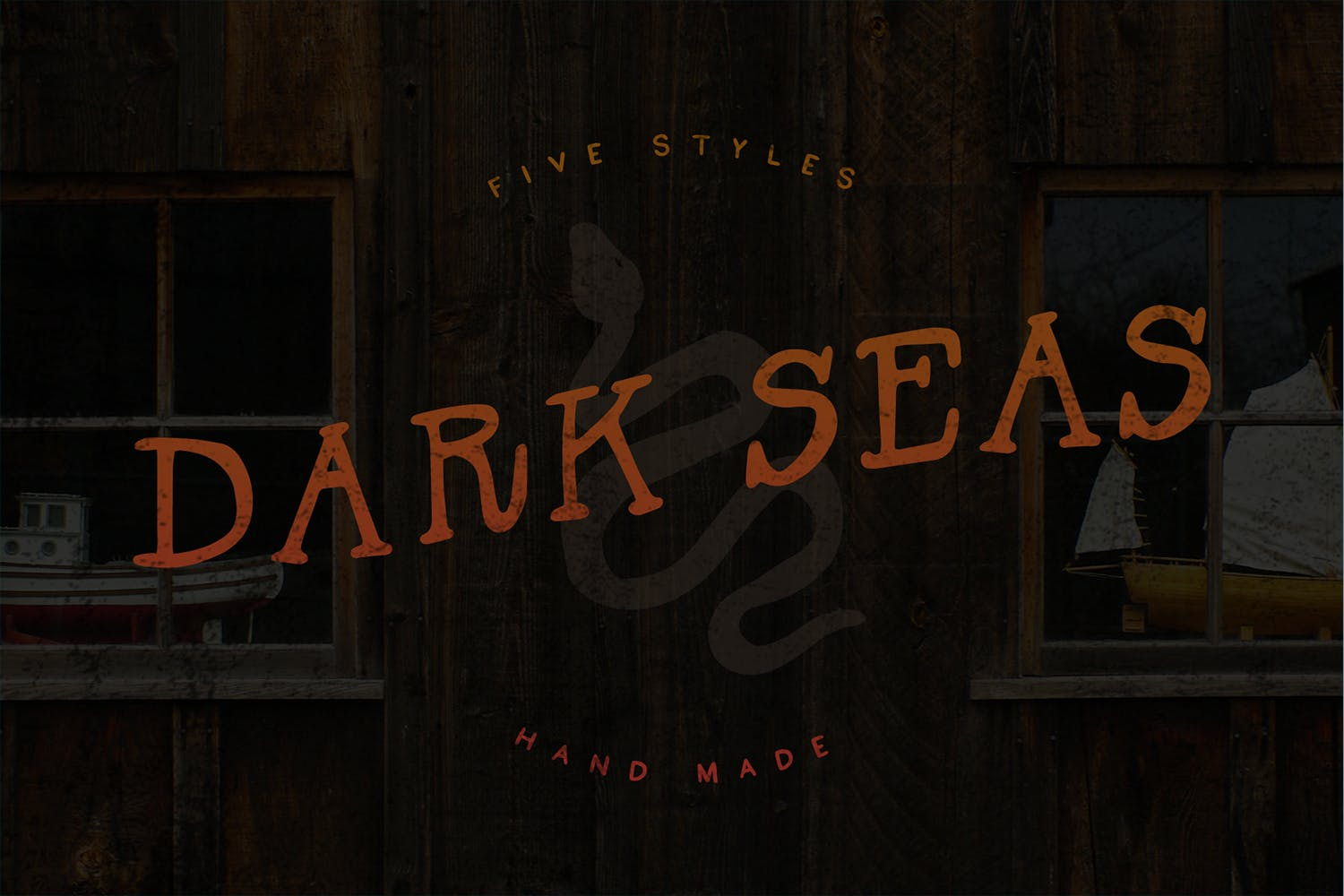 Dark Seas | A Salty Font Family example image 1